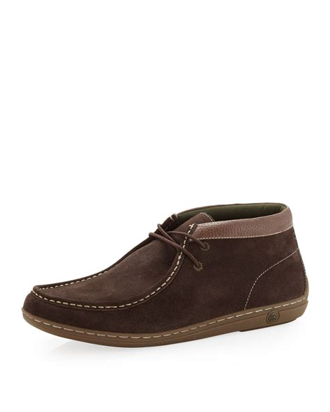 penguin chukka boots original penguin wally suede chukka in brown for null