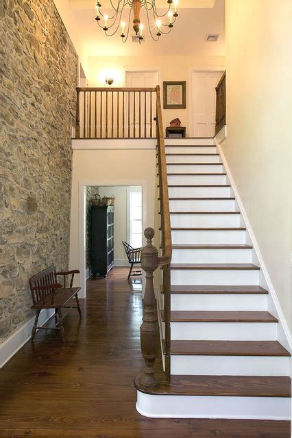2 Story Foyer Conversion by Farmhouse Conversion Farmhouse Staircase New