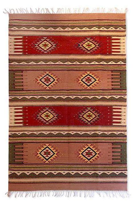 Zapotec Wool Rugs by Zapotec Wool Rug 4x6 5 Mountain Sun Novica