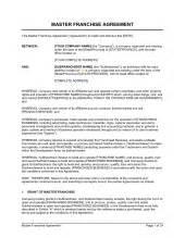 Master Distribution Agreement Template franchise application template amp sample form biztree com