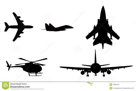 airplane helicopter stock image image 13663131