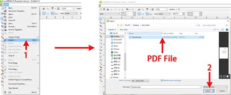 coreldraw open pdf how to import pdf files into rdworks thunder laser