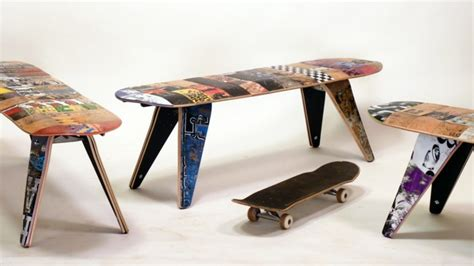 skateboard chairs 40 ideen f 252 r upcycling m 246 bel und wohnaccessoires