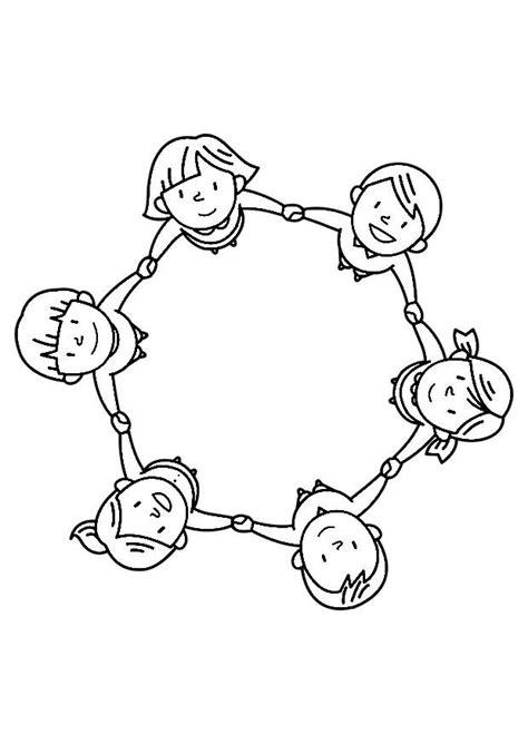 imagenes de niños jugando en grupo para colorear dibujo para colorear grupo de ni 241 os img 30245