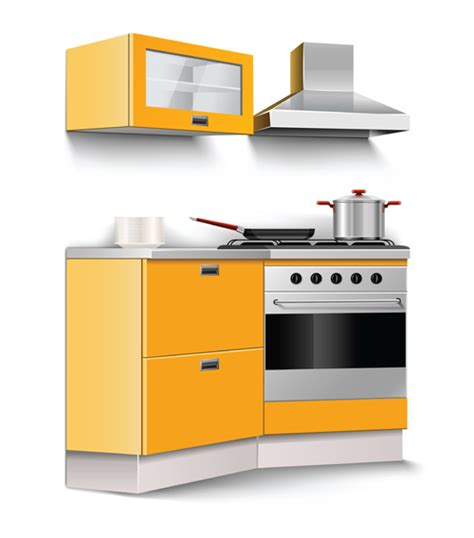 images of kitchen furniture set of kitchen furniture design elements vector 01