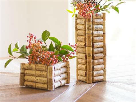 DIY: Wine Cork Vase   Funny how flowers do that