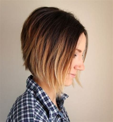 ombre colored hair cut in a line bob 38 pretty short ombre hair you should not miss styles weekly
