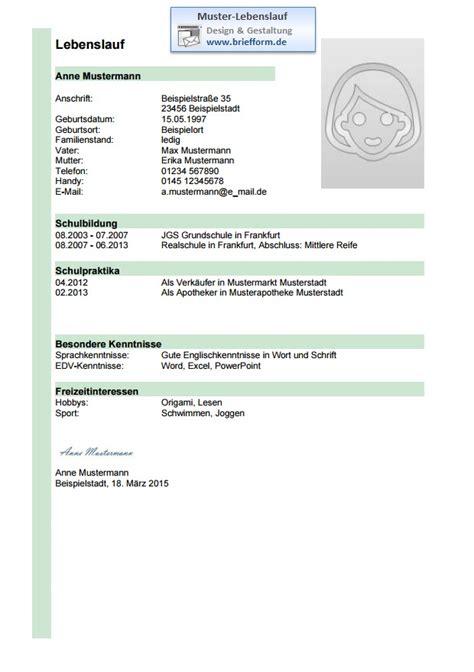 Lebenslauf Muster Kostenlos Ohne Anmeldung Azubi Muster Lebenslauf Hellgr 252 Nes Design