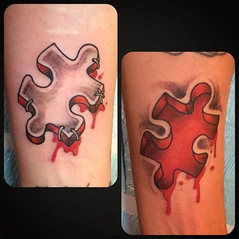 couple jigsaw tattoo 17 best ideas about puzzle piece tattoos on pinterest