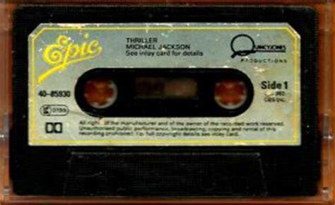 michael jackson thriller cassette michael jackson thriller cassette
