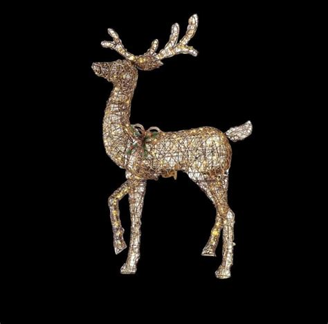 outdoor lighted deer family animated lighted reindeer shop collectibles daily