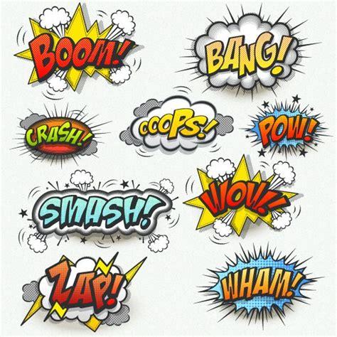 imagenes superheroes vectores bocadillos con onomatopeyas vector gratis e imagen png