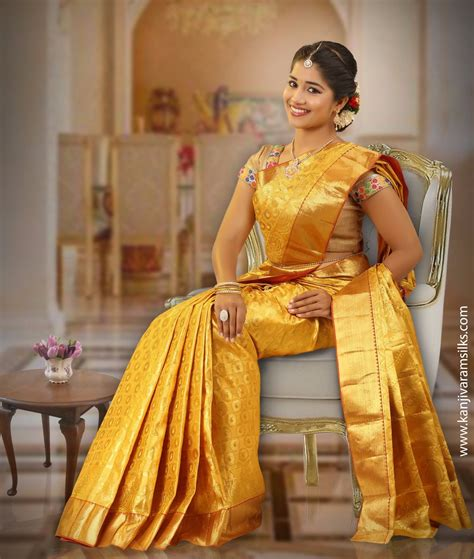latest wedding sareesbuy south indiantraditional silk golden colour wedding saree in full gold zari 00abl4f3a8989
