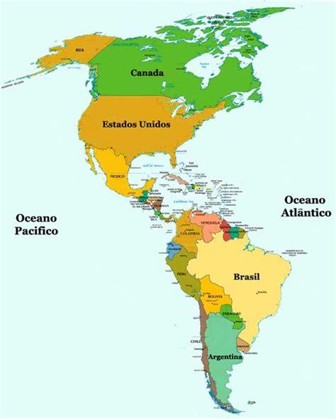 mapa politico de america con todos los paises mapa da am 233 rica