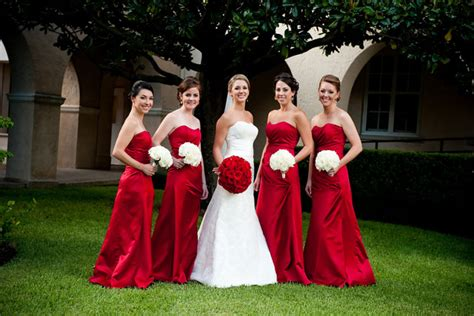 11 bridesmaids red amp white wedding   significant events of texas event amp wedding coordination