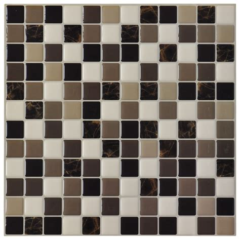 Images Of Kitchen Tile Backsplashes by Diy Vinyl Tile Backsplash Adhesive Wall Covering For