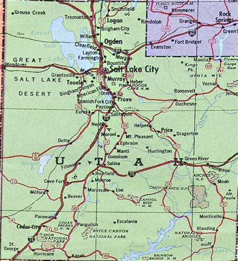 ut map where is utah