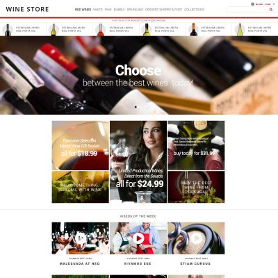 Wine Website Templates