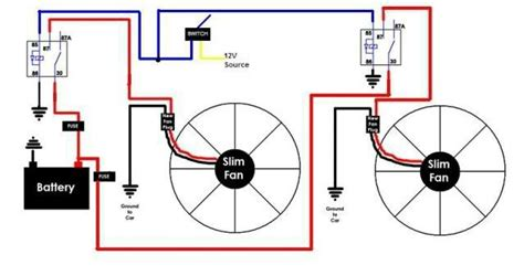 diy fan relay for you car fan relay diagram