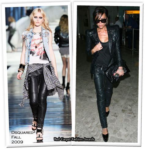 Catwalk To Carpet Beckham Carpet Style Awards by Runway To Heathrow Airport Beckham In Balmain