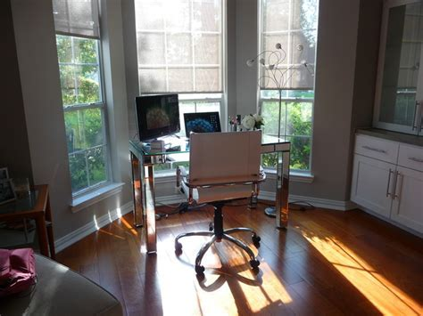 Work space by bay window