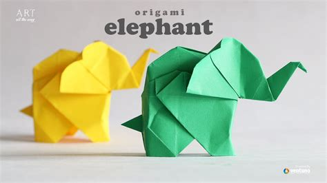 Elephant Origami Easy - how to make origami elephant fumiaki kawahata
