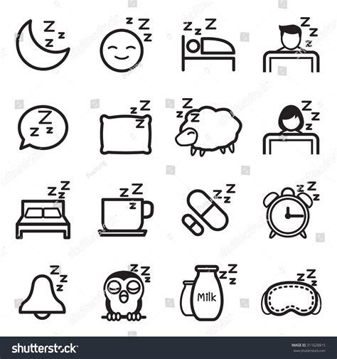 Owl Bedding Set Sleep Icon Symbol Illustration Set Stock Vector 311628815