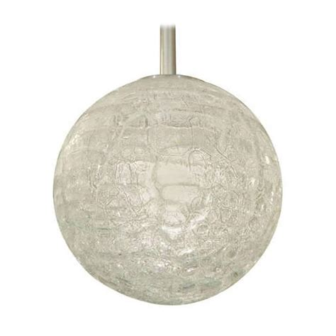 large doria organic crackle glass globe pendant for sale