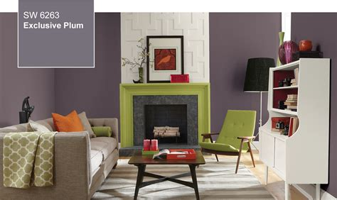 sherwin williams living room colors 2014 color of the year exclusive plum sw 6263 by