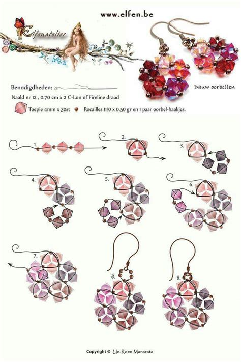 Anting Hati Pink Swarovski 1437 best images about beaded earrings on beaded earrings seed bead earrings and