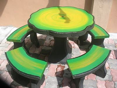 Meja Kayu Ker yanna lenna official set meja taman