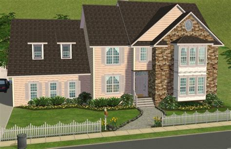 Split Level Housing by Mod The Sims 5 Bedroom Colonial Style House My 50th