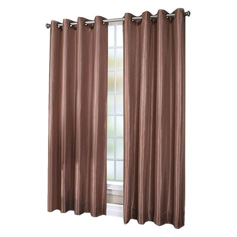 faux silk grommet curtains chloe white lined faux silk grommet curtain panel 84 in
