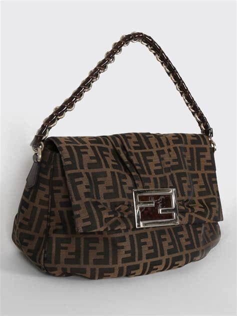 Fendi Bags by Fendi Zucca Signature Shoulder Bag Luxury Bags
