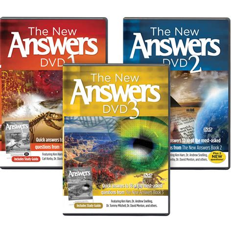 new answers book 2 the new answers dvds 1 3 bundle answers in genesis