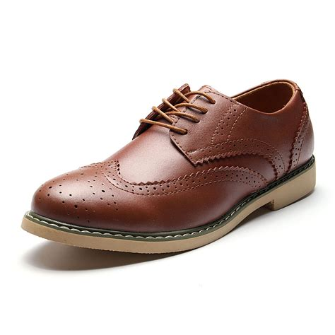 Men's Hollow Out Brogue Pointed Toe Vintage Classic Casual