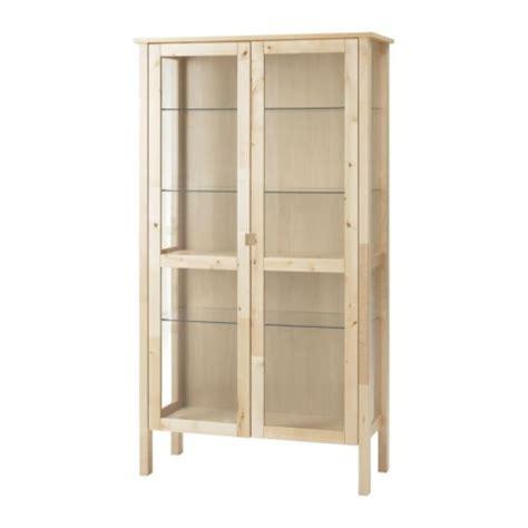 Cd dvd media storage cabinet with glass doors walnut finish