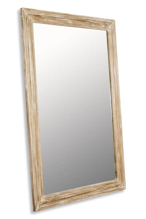 brignoles rustic white grey wash grande floor mirror