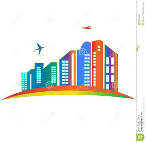 ufficio commerciale sky skyscraper logo stock photography image 25636962