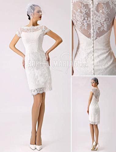 Robe Mariage Civile Simple - col haut robe de mari 233 e civile satin dentelle robe sur