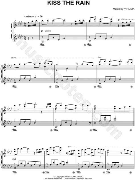guitar tutorial of kiss the rain yiruma quot kiss the rain quot sheet music piano solo in ab
