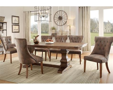 homelegance louise 9 expandable trestle homelegance dining set louise el 2526 96 set