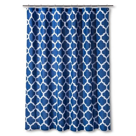 blue shower curtains shower curtain dark blue space dye lattice thr target