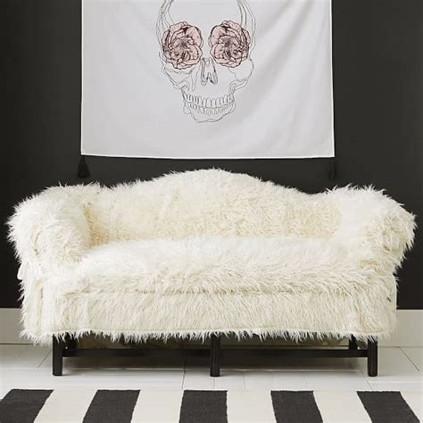Fur Sofa Cover Faux Fur Furlicious Sofa Slipcovers Pbteen