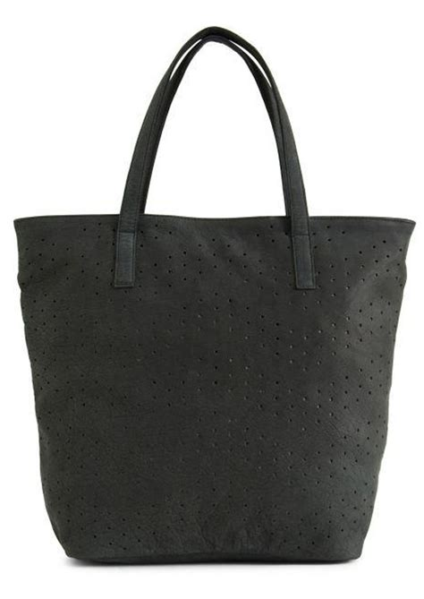 Mood Tote Bag day mood nelly leather tote bag black