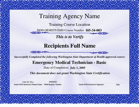 6 best images of free certificates of completion training
