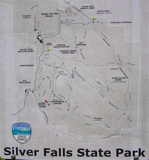 map of oregon falls cascade ramblings ramblings buck mt loop hike silver
