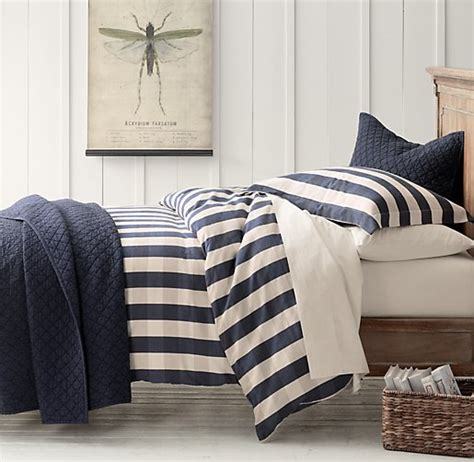 rh bedding windsor plaid vintage washed percale bedding collection