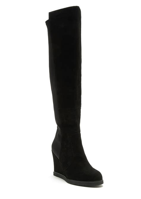bibi lou high wedge boots black