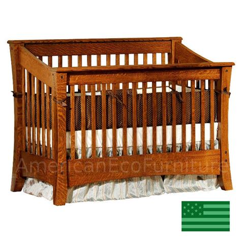 Baby Cribs Made In The Usa by Cambria Slats 4 In 1 Convertible Baby Crib Solid Wood
